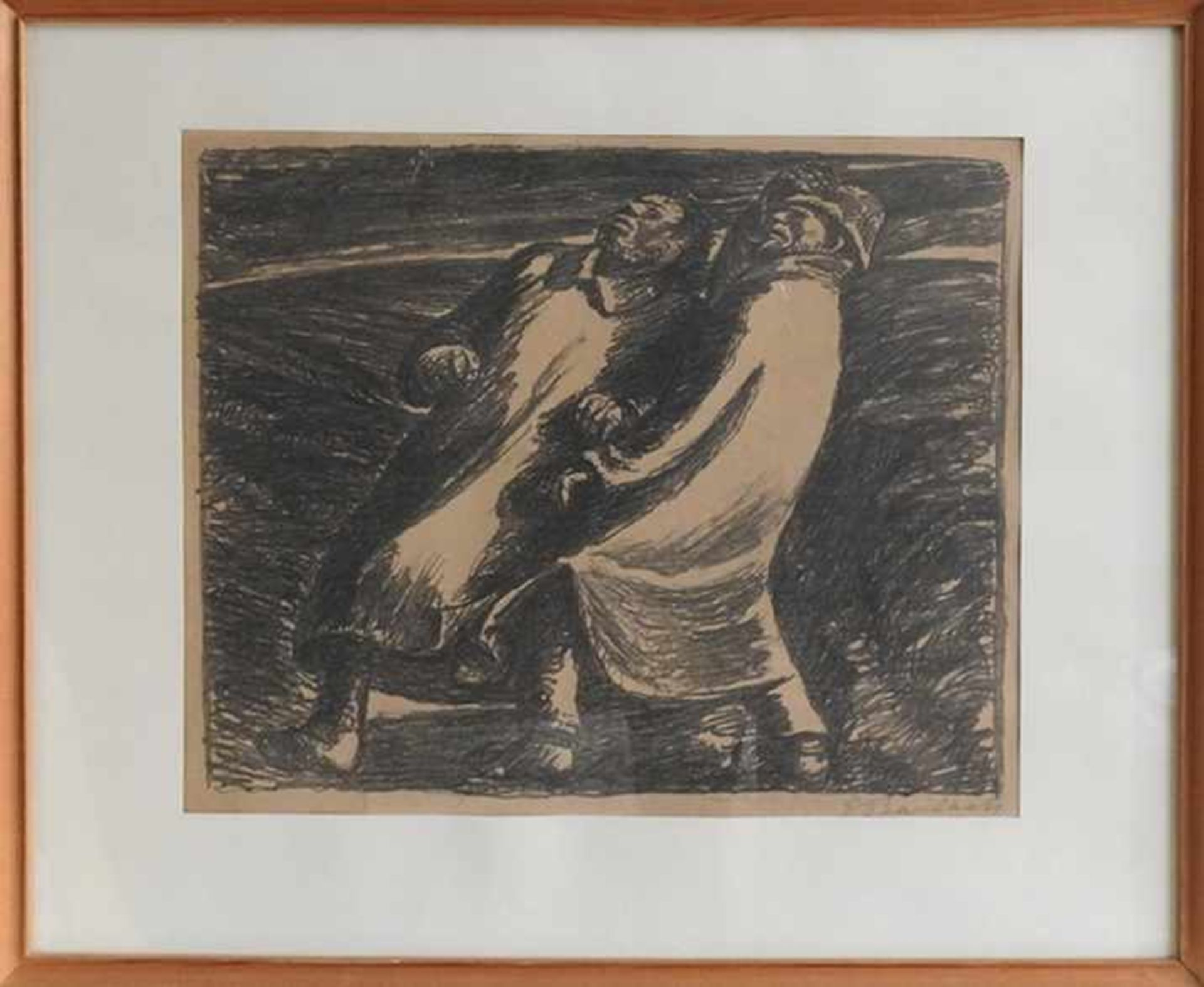 Ernst Barlach, 1870 Wedel - 1938 Rostock Lithographie/Papier. Darstellung zweier Männer in - Bild 2 aus 2