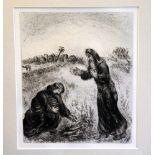 Marc Chagall, 1887 Witebsk - 1985 Saint-Paul-de-Vence Radierung/Papier. Elia und die Witwe aus