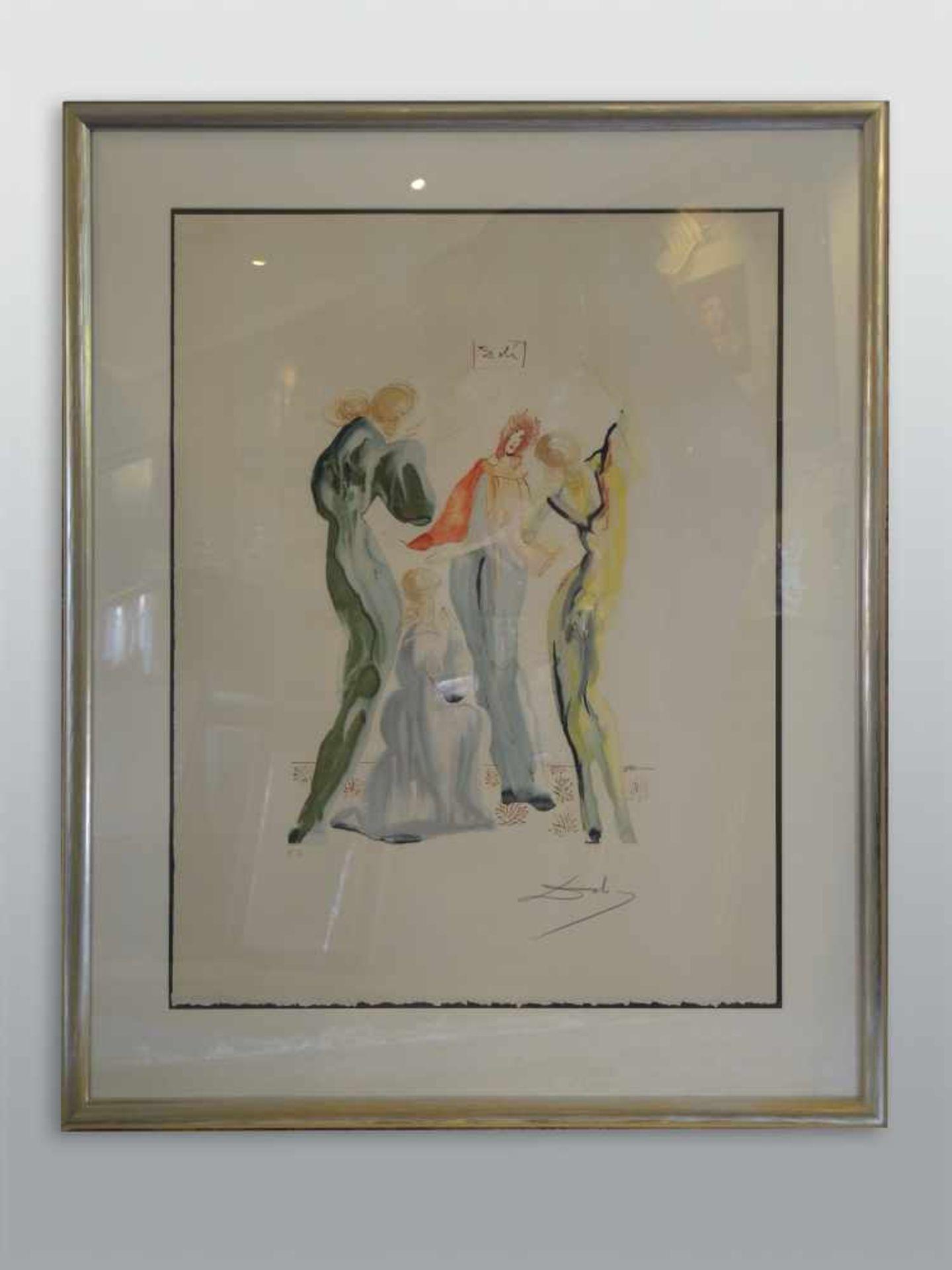 """Salvador Dalí, 1904 Figueres - 1989 ebenda Lithographie/Radierpapier. """"Le Dance"""" - Exemplar für - Bild 2 aus 2"""