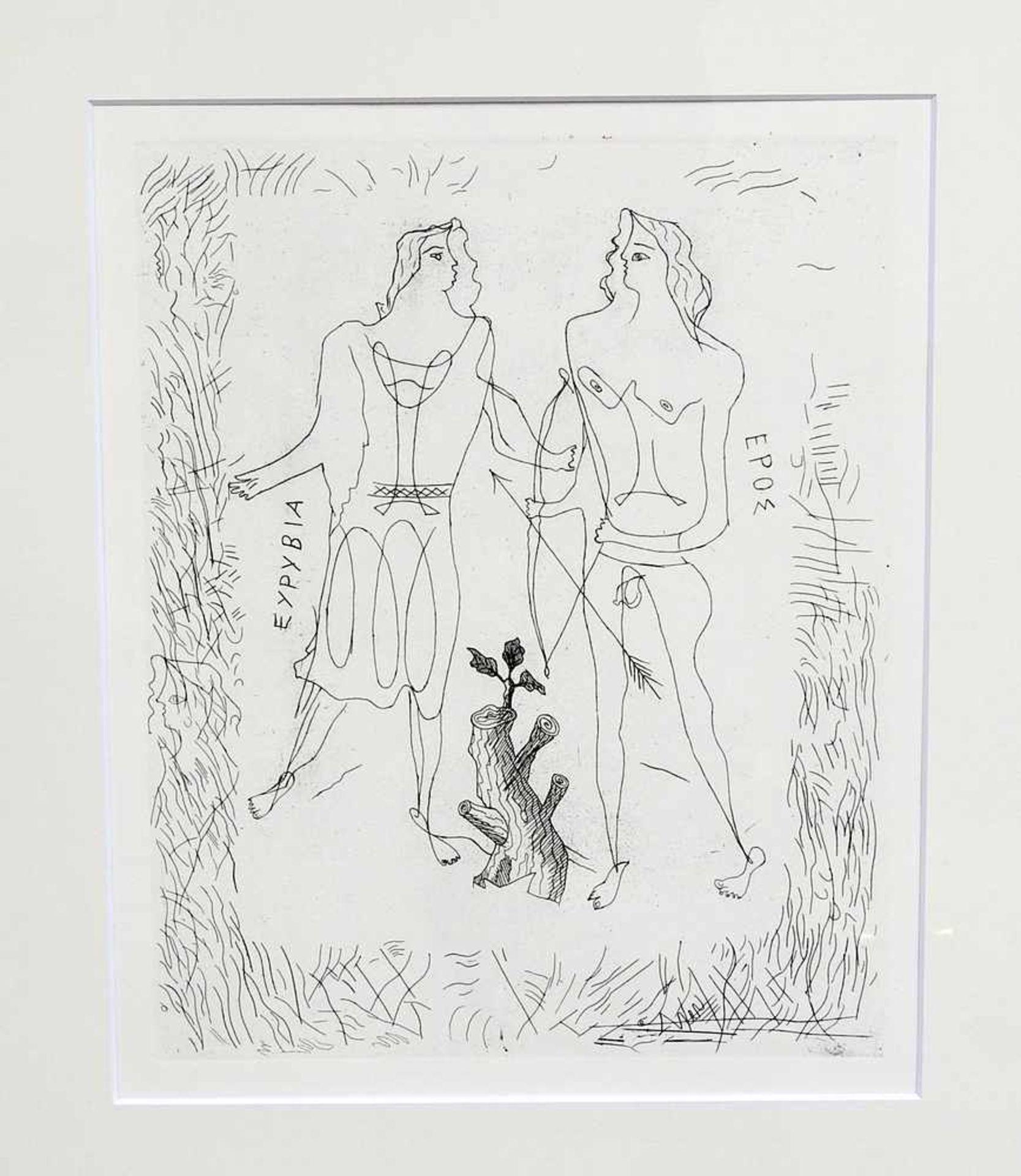 Georges Braque, 1828 Arenteuil - 1963 Paris Radierung/Papier. Eurybia und Eros. Unveröffentlichte