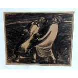 Ernst Barlach, 1870 Wedel - 1938 Rostock Lithographie/Papier. Darstellung zweier Männer in