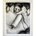 Marc Chagall, 1887 Witebsk - 1985 Saint-Paul-de-Vence Radierung/Papier. Berufung des Hesekiel.