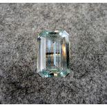 Großer Aquamarin-RingGelbgold, Aquamarinbesatz von ca. 15 ct. und Diamantbesatz von ca. 1,5 ct. In