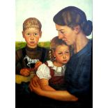 "Adolf Wissel, 1894 Velber -1973 ebendaÖl/Leinwand. Ausschnitt des berühmten Gemäldes ""Kalenberger"