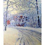 Fritz Osswald, 1878 Zürich - 1966 StarnbergÖl/Leinwand. Winterliche Landschaftsszenerie. Motive