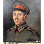 Matthias Maier, gen. Hiasl Maier-Erding, 1894 Erding - 1933 MünchenÖl/Leinwand. Porträt eines