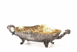 Schale, Peter Bruckmann, Heilbronn um 1900800er Silber, ovale Schale, außen mattiert , innen