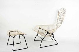 Harry Bertoia1915 San Lorenzo/Italien - 1978 PennsylvaniaBird Chair mit OttomaneMetall,