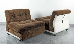 Mario Bellini1935 MailandEin Paar Amanta-ChairsFiber Lite-Kunststoffschalen, Cordbezug; H je 70