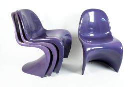 "Verner Panton1926 - 19984 Panton ChairsKunststoff; H 83 cm, B 50 cm, T 46 cm; unten gemarkt """