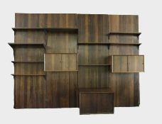 Poul Cadovius1911 - 2011Royal RegalsystemTropisches Edelholz; 4 Elemente, jeweils H 245 cm, B 80 cm,