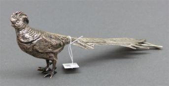 Ziervogel Silber, Hanau, 20. Jh., l 22 cm, 170 g schwer, punziert,