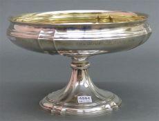 Aufsatzschale 800 Silber punziert, barocke Form, mit Gravur, Heinrich von Opel-Erinnerungsrennen,