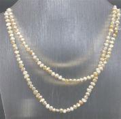 Halskette Biwaperlen, weiss, endlos, l ca. 92 cm,