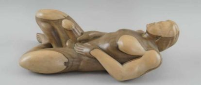 Fruchtbarkeitsskulptur / Ritualskulptur, Holz geschnitzt, Umbanda/Quimbanda-Brasilien,L43cm