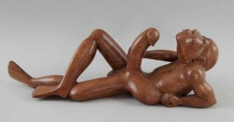 Fruchtbarkeitsskulptur / Ritualskulptur, Holz geschnitzt, Umbanda/Quimbanda-Brasilien, L39cm
