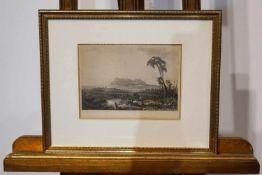 Radierung zweier Gemälde Radierungen zweier Gemälde, unter Glas gerahmt, Gesamtmaß Höhe 28,5 cm x