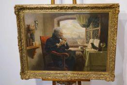 """Das Duett """"Das Duett"""" Hans Gabriel Jentzsch (1862-1930), Öl/Lwd. signiert und datiert, 76 x 95 cm,"""