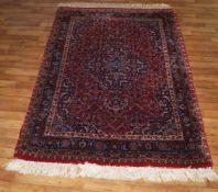 Teppich Indo-Bidjar, 1,72 x 1,18 m, Flor etwas abgetreten, aber ansonsten in gutem Zustand