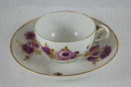 Meissen Teetasse Teetasse, Meissen, Schwertermarke Punktzeit 1. Wahl, violett-goldenes