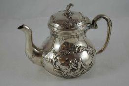 Silberkanne Silberkanne, Deutschland, 835er Silber, Verziert mit der Darstellung zweier Putti und