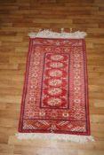 Teppich orientalischer Teppich, 59 x 104 cm, in gutem Zustand, Fransen ungleichmäßig