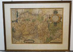 Historische Landkarten v. Westfalen u. Gelderland Niederlande, gerahmt, Maße der Karte von