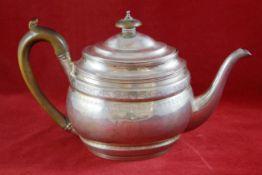 Teekanne, England Sterling Silber, London, Crispin Fuller, 1801 gepunzt, George III., umlaufend