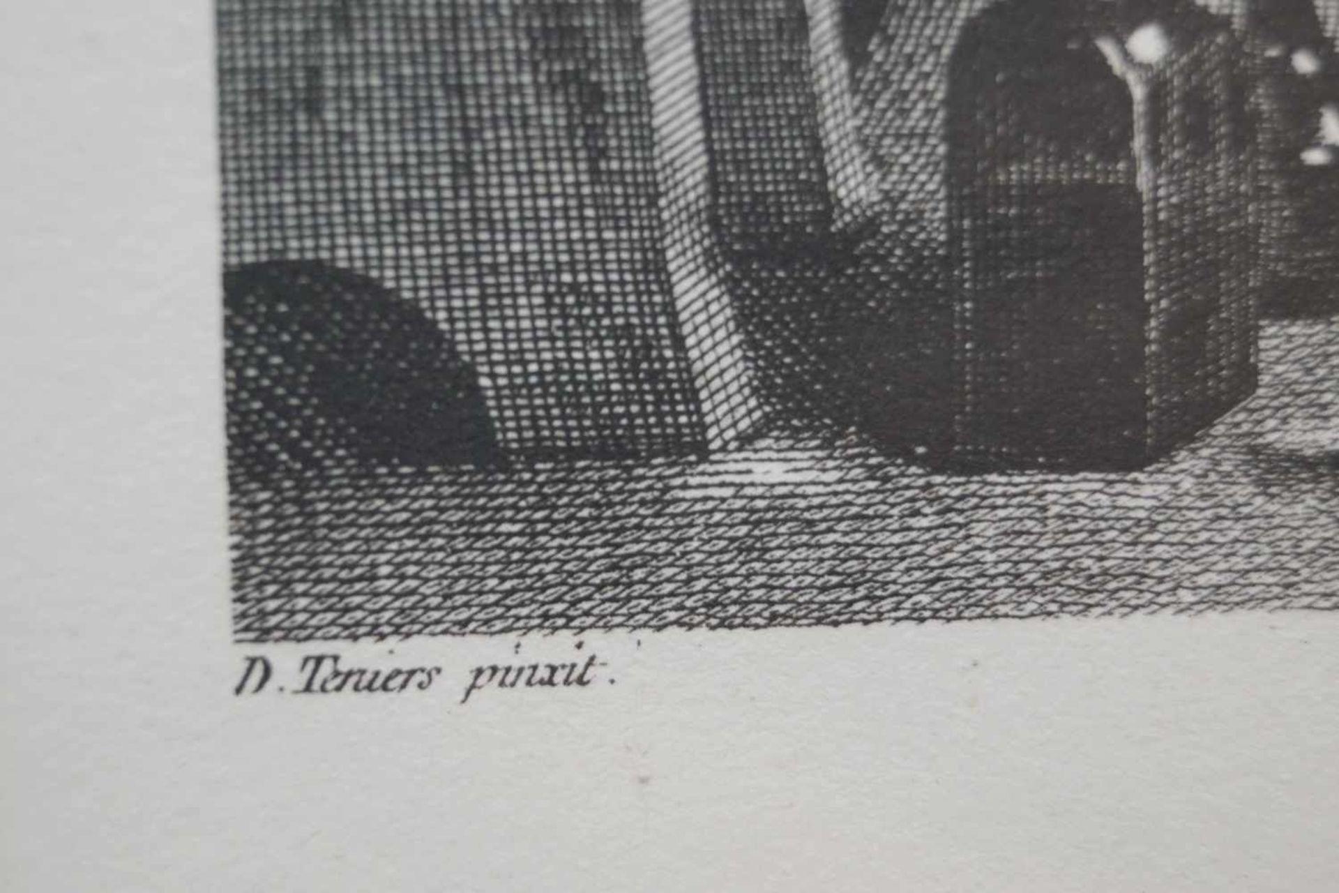 """""""Le Medecin Empyrique"""" Jean Baptiste Tardieu Stich nach einem Bild des Malers David Teniers, ca. - Bild 2 aus 2"""