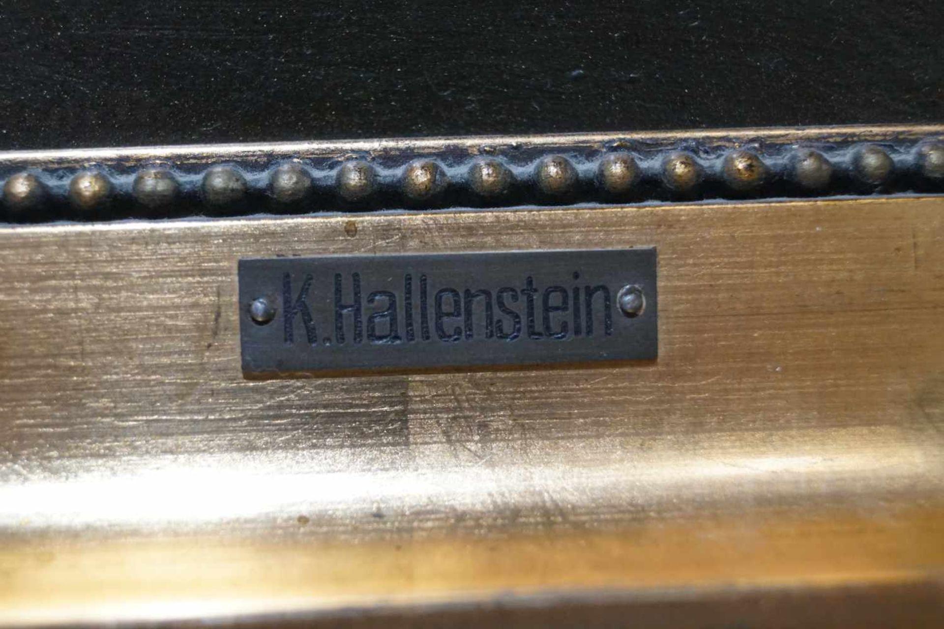 Zwei kleine Mondscheinlandschaften Konrad Hallenstein, Öl auf Karton, gerahmt, Höhe 21,5 cm x Breite - Bild 6 aus 6