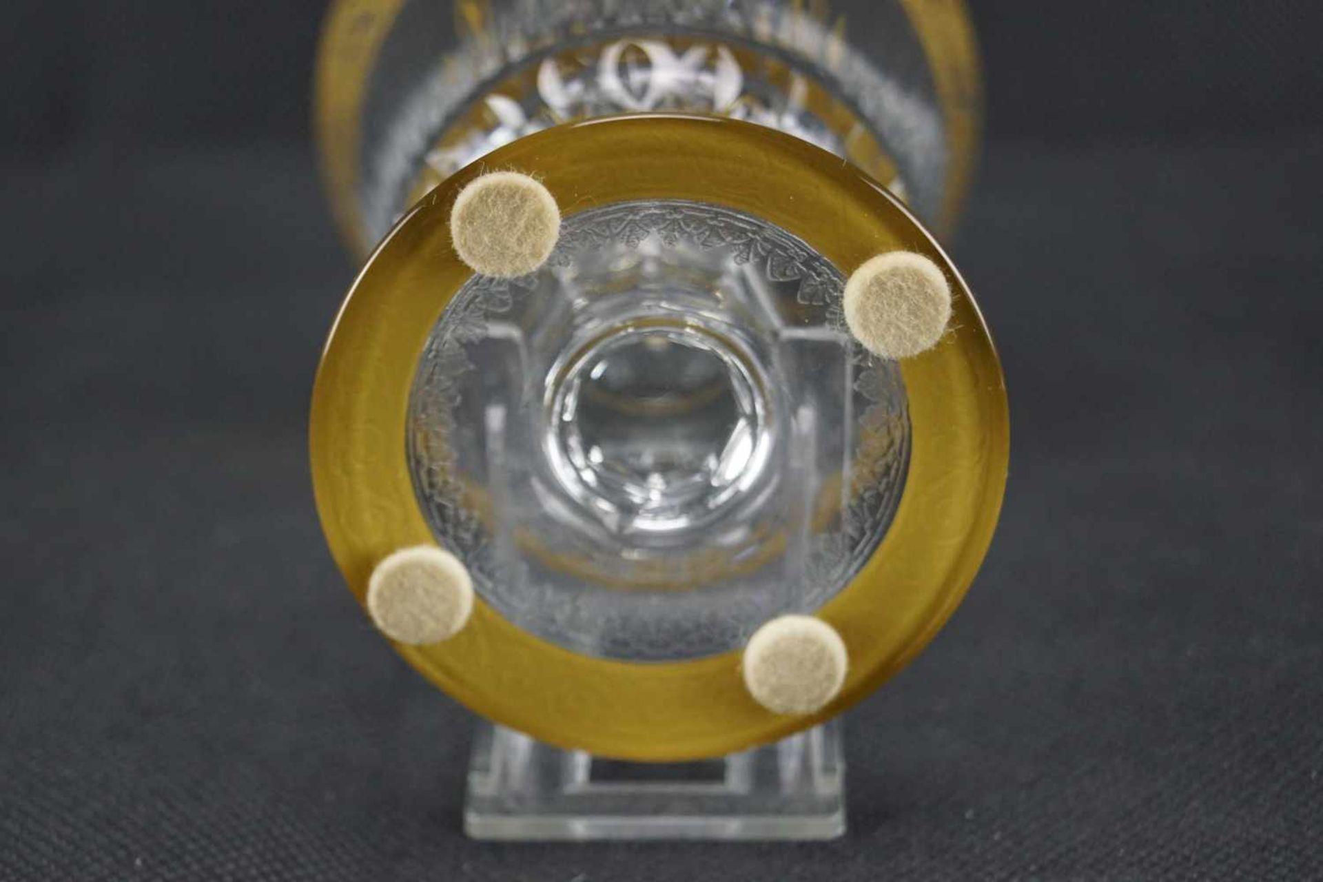 Dekantierkaraffe, Saint Louis Serie Thistle Gold, Höhe 27 cm, minimaler Goldabrieb, ansonsten - Bild 3 aus 3