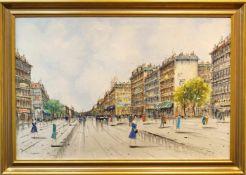 Pariser StraßenszeneÖl auf Leinwand, André Gardin (1918 - 1959), Höhe 73,5 cm x Breite 103,5 cm, 3