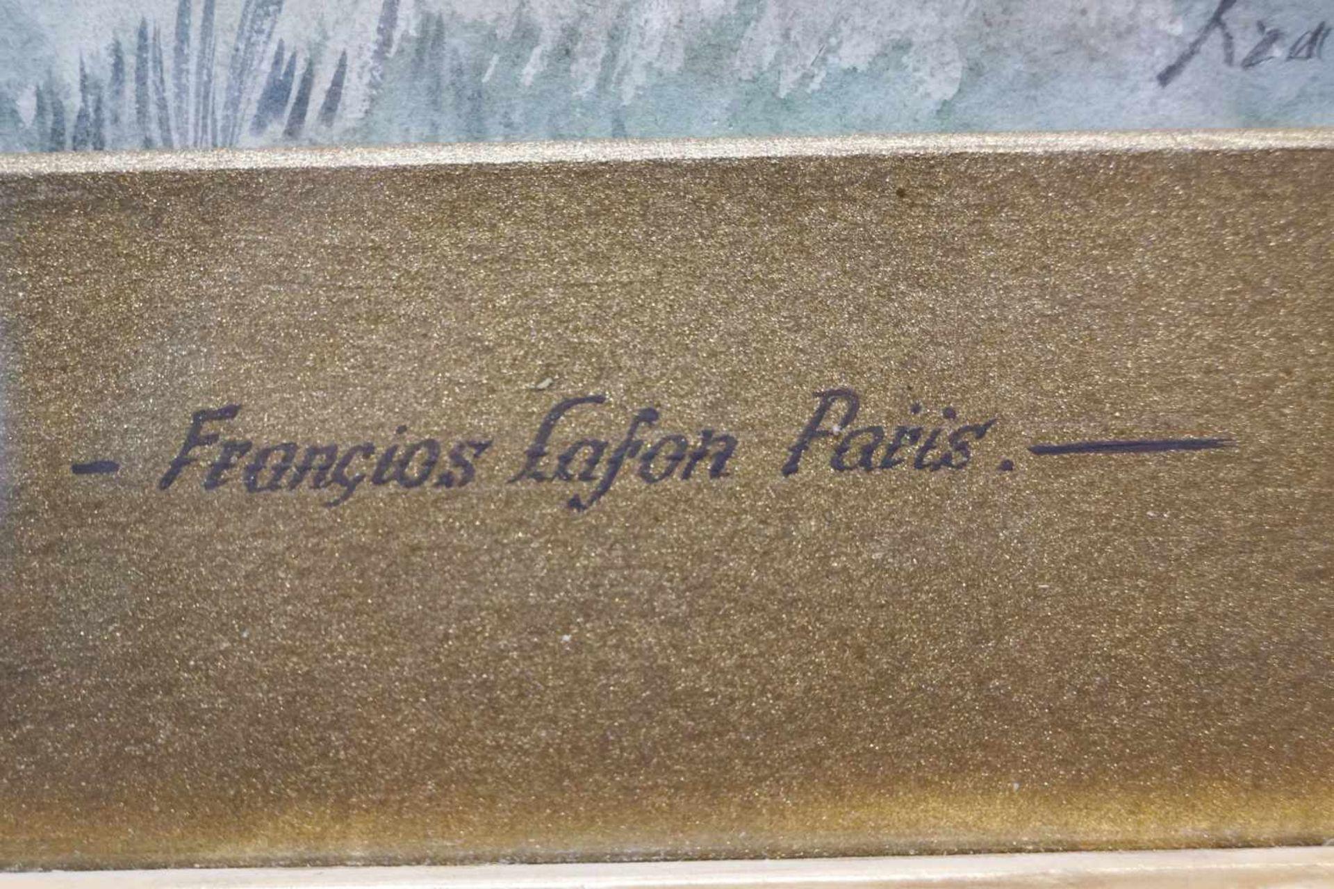 Magd mit Korb in der Natur Francois Lafon (1846-1920), Mischtechnik auf Platte, unter Glas - Bild 3 aus 4