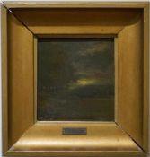 Zwei kleine Mondscheinlandschaften Konrad Hallenstein, Öl auf Karton, gerahmt, Höhe 21,5 cm x Breite
