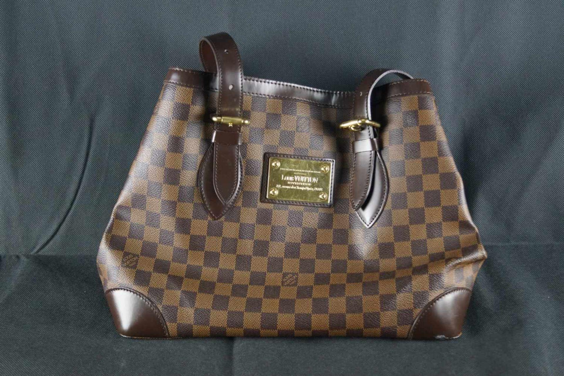 Louis Vuitton Handtasche Damier Hampstead PM, Höhe ca. 22 cm x Breite ca. 34 cm, Date Code TH3058,