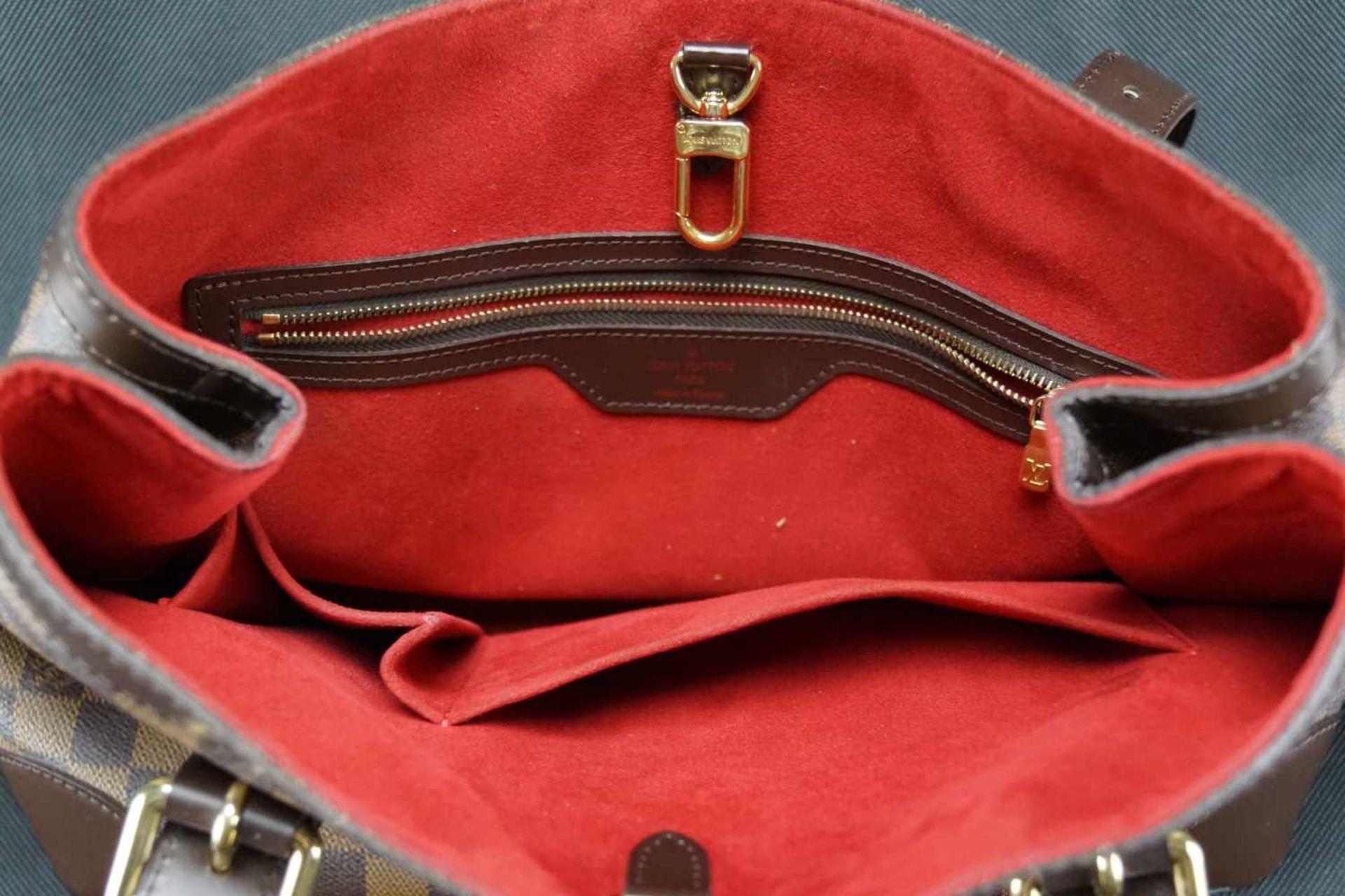 Louis Vuitton Handtasche Damier Hampstead PM, Höhe ca. 22 cm x Breite ca. 34 cm, Date Code TH3058, - Bild 4 aus 6