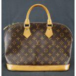 Louis Vuitton Handtasche Alma, Höhe ca. 24 cm x Breite ca. 28 cm, Date Code BA0053, Staubbeutel