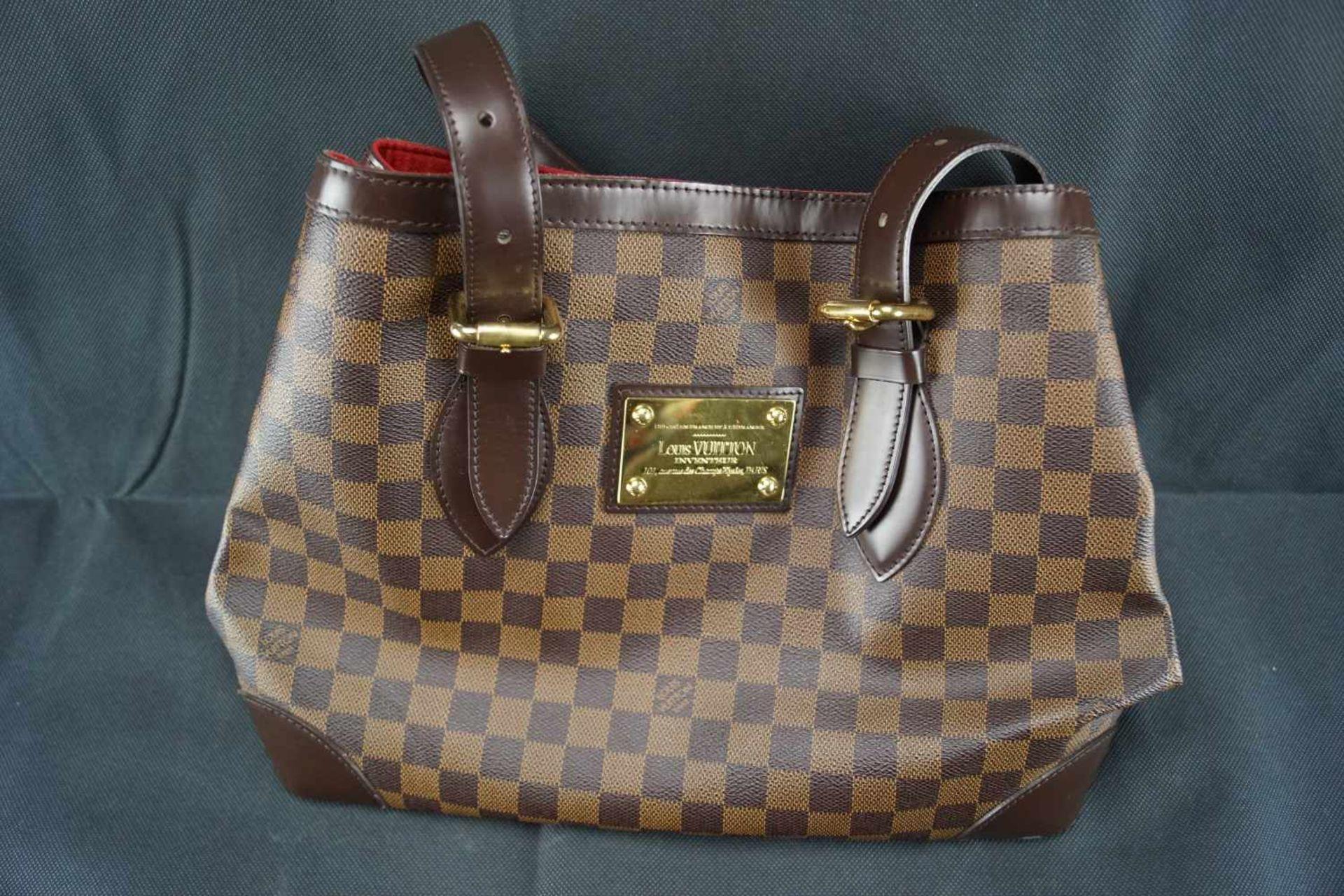 Louis Vuitton Handtasche Damier Hampstead PM, Höhe ca. 22 cm x Breite ca. 34 cm, Date Code TH3058, - Bild 2 aus 6