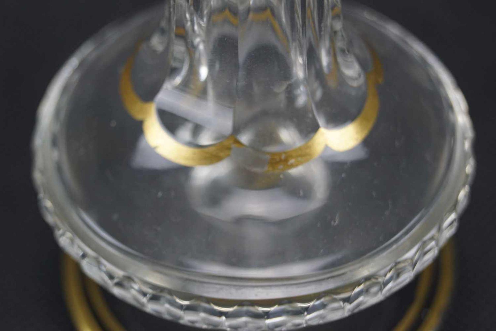 Vase, Saint Louis Mit Ätzmarke versehen, Serie Thistle Gold, Höhe 17,5 cm, Gold berieben, eine - Bild 4 aus 5