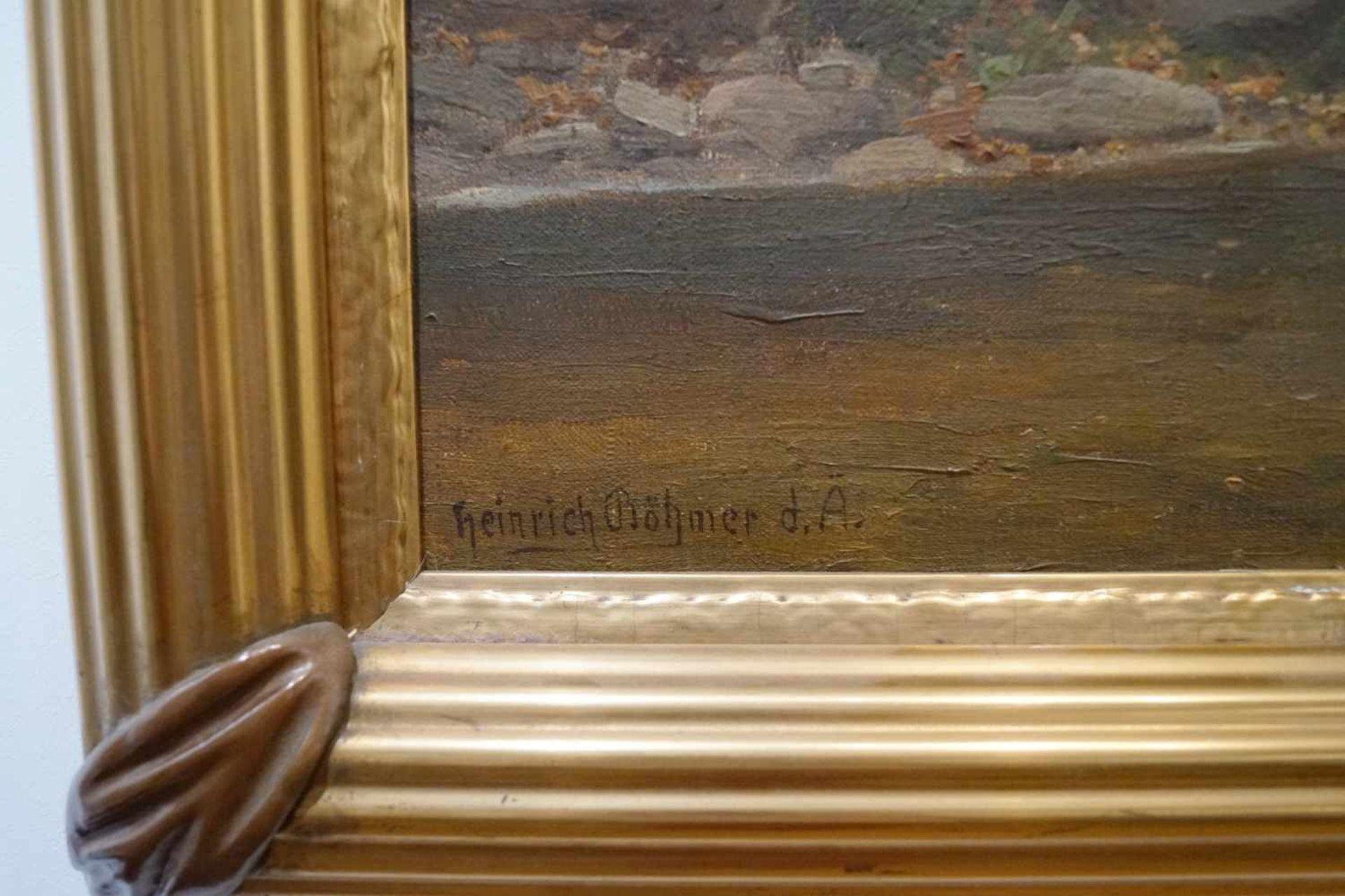 Sonnendurchflutetes Waldstück Heinrich Böhmer der Ältere (1852-1930), Öl/Leinwand, unten links - Bild 3 aus 3