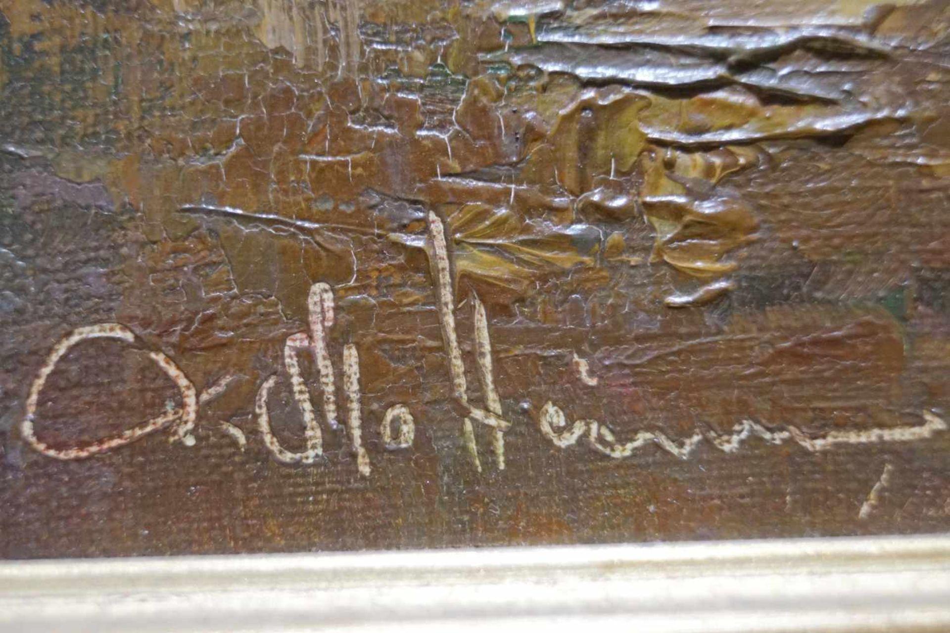 Parforcejagd Peter Otto Heim (1896-1966), Öl auf Leinwand, gerahmt, Höhe 66 cm x Breite 62 cm, - Bild 2 aus 3