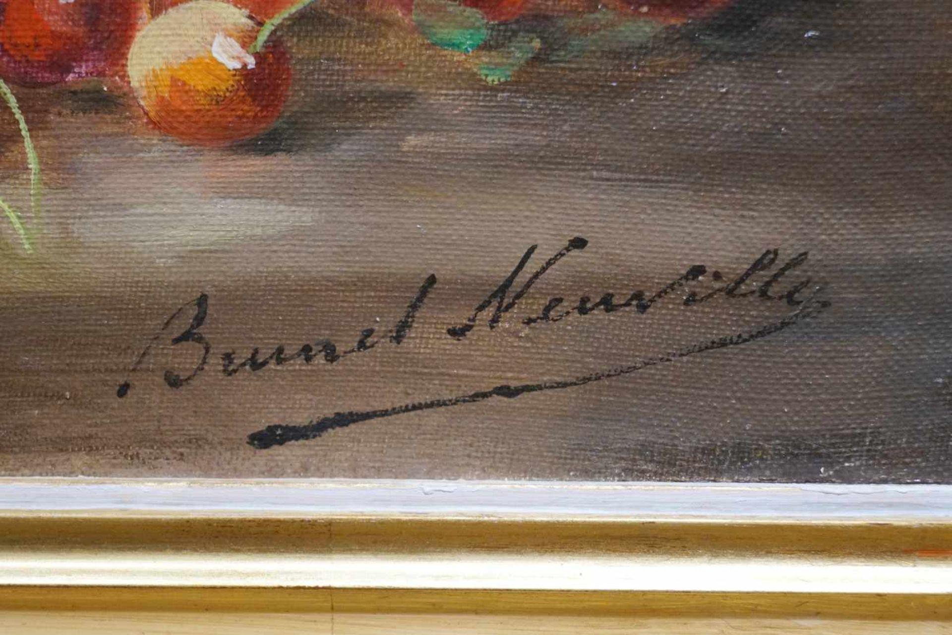 Stillleben mit Pflaumen und Kirschen Alfred Arthur Brunel Neuville (1852-1941), Öl auf Leinwand, - Bild 3 aus 3
