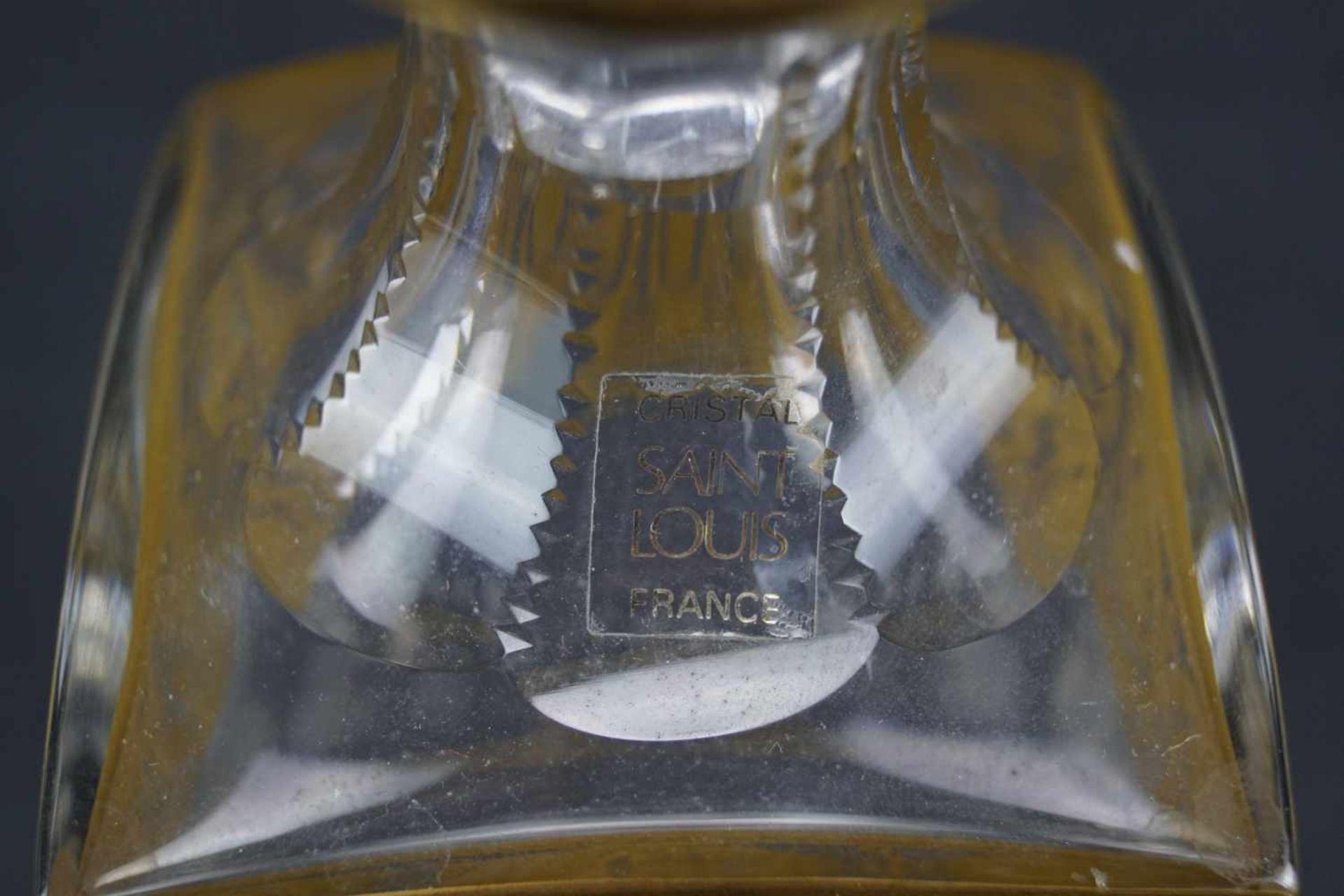 Viereckige Karaffe, Saint Louis Serie Thistle Gold, Höhe 24 cm, einige Bestoßungen - Bild 3 aus 3