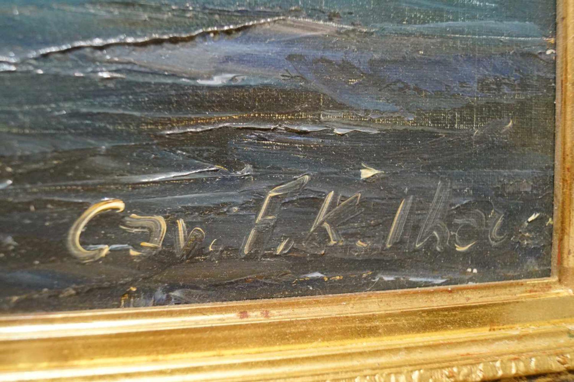 Italienische Küstenansicht Cav. Friedrich Karl Thauer (1924-2009), Öl auf Leinwand, signiert, - Bild 3 aus 3