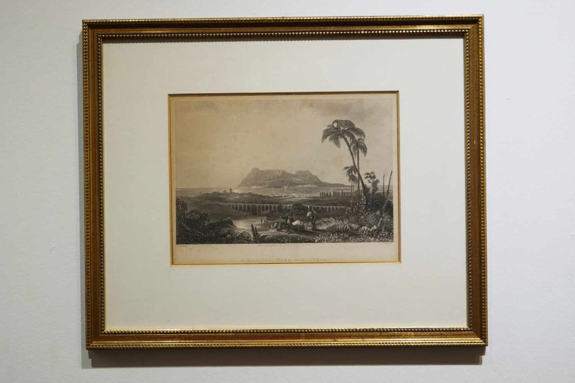 Radierungen zweier Gemälde unter Glas gerahmt, Gesamtmaß Höhe 28,5 cm x Breite 35 cm, leicht
