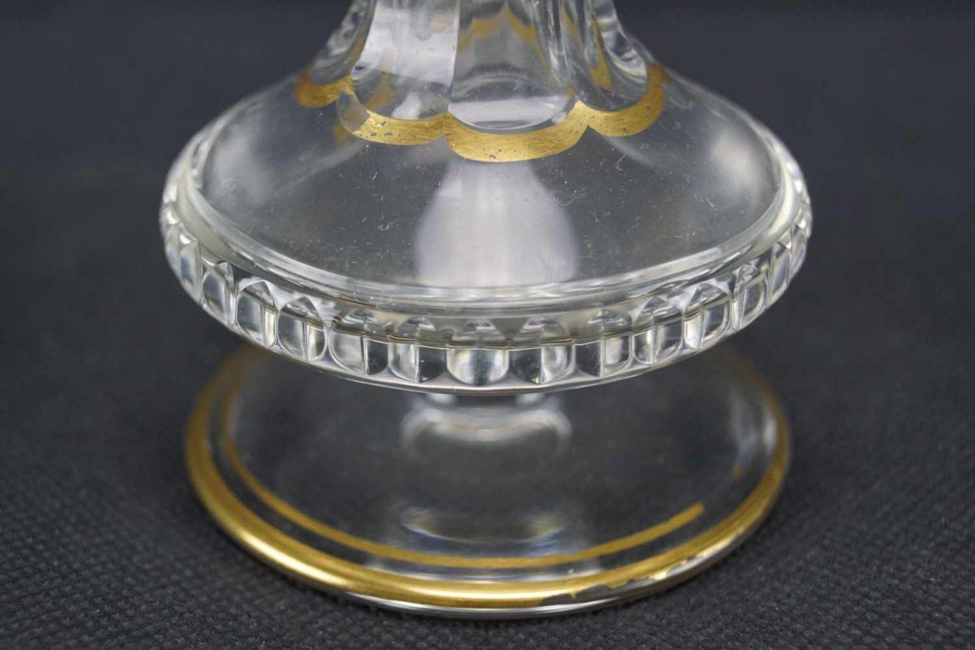 Vase, Saint Louis Mit Ätzmarke versehen, Serie Thistle Gold, Höhe 17,5 cm, Gold berieben, eine - Bild 3 aus 5