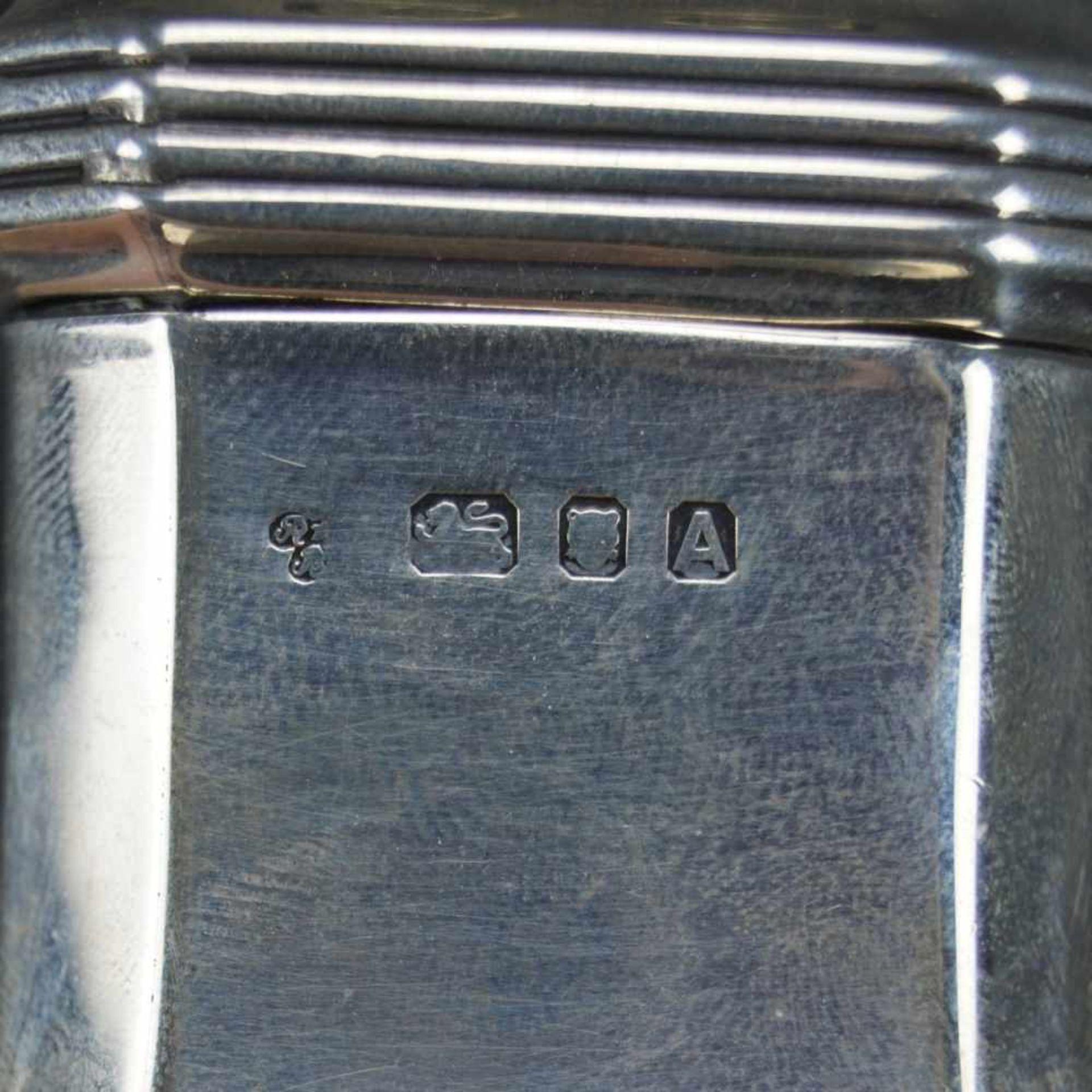 Zuckerstreuer, EnglandSterling Silber, London, Richard Woodman Burbridge, 1936, gepunzt, Höhe 18,5 - Bild 3 aus 3