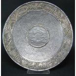 Münzteller, China900er Silber, SIlver Dragon Coin von 1911 eingearbeitet in einen kleinen Teller mit