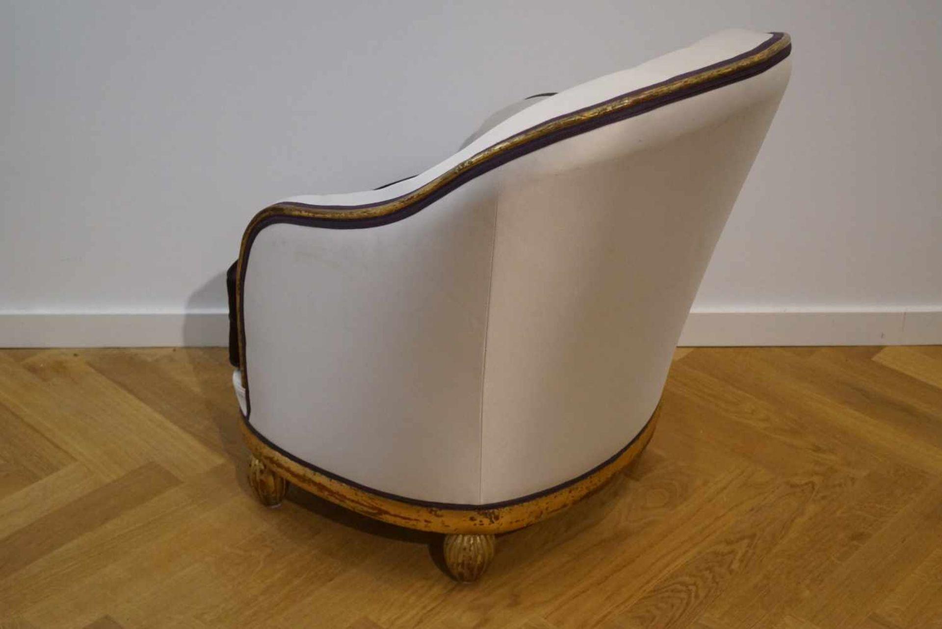 Bergère, Art-Deco20er Jahre, Höhe 84 cm x Breite 61 cm x Tiefe 78 cm, in einem guten Zustand - Bild 4 aus 4