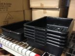 """Lot 39 - 5"""" Deep Black Tote Boxes - Lot of 6"""